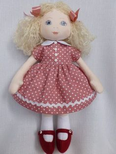 LIBBY. A 13ins rag/cloth handmade ooak collectable doll by Brenda Brightmore. | eBay