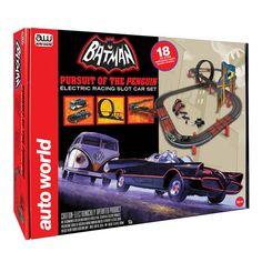 Batman Pursuit of Penguin Electric Slot Car Racing Playset