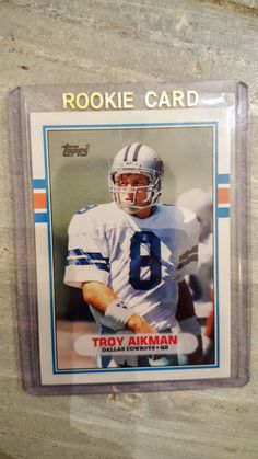 Dallas Cowboys Troy Aikman 1989 Topps Traded ROOKIE CARD! True Rookie, UCLA Bruins by BBSportscards on Etsy