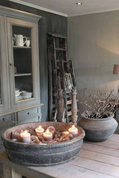 Einblick in die Wohnküche Styling & Living, Estilo Interior, Vibeke Design, Home And Deco, Wabi Sabi, Rustic Interiors, Home And Living, Sober Living, Living Room, My Dream Home