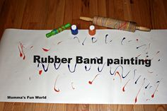 Momma's Fun World: Rubber band painting