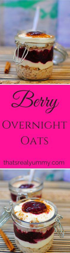 Overnight Oats & Berry Parfait Healthy Sugar, Healthy Recipes, Berry Sauce, Cinnamon Recipes, Sugar Free Recipes, Overnight Oats, Brunch Recipes, Parfait, Recipies