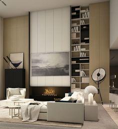 [New] The 10 Best Cheap Home Decor (in the World) Contemporary Interior Design, Modern Interior, Interior Architecture, Villa Luxury, Living Area, Living Spaces, Piece A Vivre, Fireplace Design, Living Room Interior