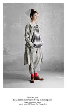 【送料無料】Joie de Vivreイタリアリネン硫化染めサルエルパンツ Cool Outfits, Fashion Outfits, Womens Fashion, Mori Fashion, Natural Clothing, Hippie Outfits, Japan Fashion, Minimal Fashion, Korean Fashion