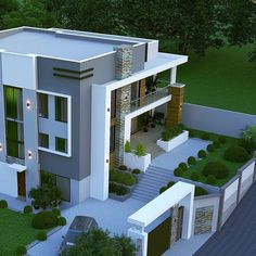 Want to Design floor Plan? Contact us (Low Budget + Good Quality) Freelancer . Modern Exterior House Designs, Best Modern House Design, Design Exterior, Modern Architecture House, Architect Design House, Duplex House Design, House Front Design, Modern Bungalow House Design, House Construction Plan