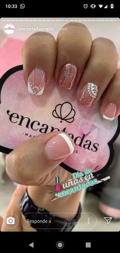Semi Permanente, Pretty Nails, My Nails, Acrylic Nails, Nail Designs, Hair Beauty, Nail Art, Designed Nails, Toenails Painted
