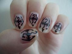 Skyrim nails, I would totally do it> No I am not a Skyrim Addict.... Ok maybe a little