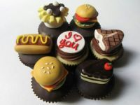 Foodie Cupcakes jigsaw puzzle in Food Pretty Cupcakes, Fun Cupcakes, Cupcake Cookies, Cupcake Toppers, Amazing Cupcakes, Chocolate Fondant, Chocolate Cupcakes, Chocolate Ganache, Burger Cupcakes
