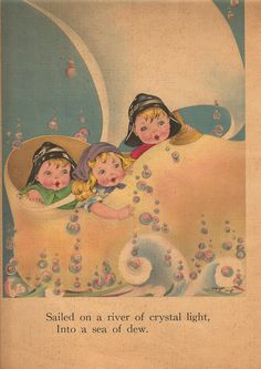 WYNKEN, BLYNKEN AND NOD - Written by Eugene Field - Illustrations by Margot Voigt