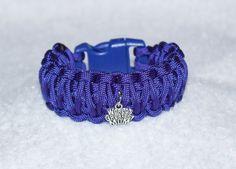 World's Greatest Mom Paracord Bracelet Purple Bracelet