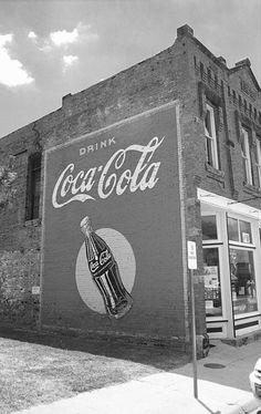 Route 66 - Coca Cola Ghost Mural, Stroud, Oklahoma.