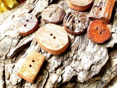 Driftwood Craft Buttons. $12.00, via Etsy.