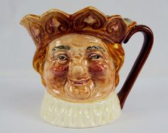 "Toby Character Jug (Small) ~""Old King Cole"" ~ Royal Doulton D6037, #9120550"