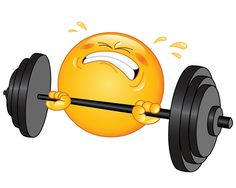 Smiley Lifting Weights