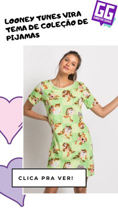 Para fazer abublébublé por aí! Looney Tunes, Scrunchies, Geek Stuff, Summer Dresses, Blouse, Women, Fashion, Cotton Tee, Hair Streaks