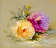 Art-and-Dream — flowers by Gary Jenkins American painter Art Floral, Gary Jenkins, Rose Art, China Painting, Painting Lessons, Pictures To Paint, Art Oil, Flower Art, Watercolor Art