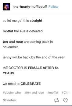 I knew about the new doctor... BUT I DIDNT KNOW ABOUT THE REST OF IT THIS IS MIND BLOWING!!! WHAT NEXT, SUPERWHOLOCK BECOMES CANON?!?!!?!