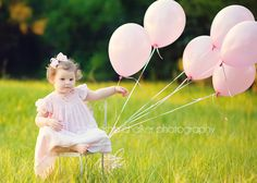 Pink balloons!   child photography