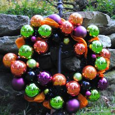 Not So Scary Halloween Ornament Wreath  OWR8010.