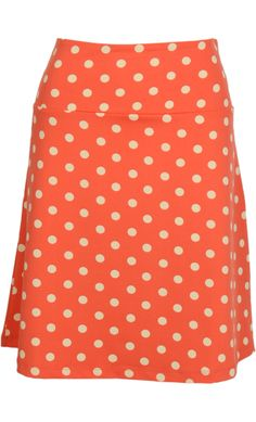 Vintage inspired summer skirt dots in peach - King Louie SS2014