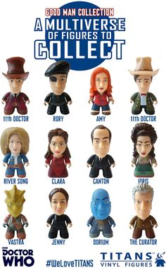 The Good Man Collection features the 11th Doctor in both his Victorian outfit and in his green coat/stetson combo, as well as his companions Clara, Amy and Rory…