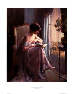 Young Woman Reading by a Window Art Print by Delphin Enjolras
