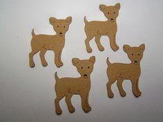 Chihuahuas!! OMG     Die Cut Puppy Dog  Chihuahua Tag Card Toppers 6pcs. $1.75, via Etsy.