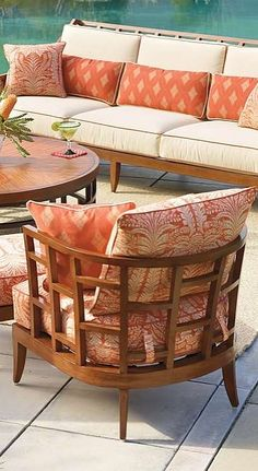 Inspired by the South Pacific trade winds, the Ocean Club Resort Lounge Chair by Tommy Bahama is a captivating fusion of east-meets-west styling. | Frontgate: Live Beautifully Outdoors