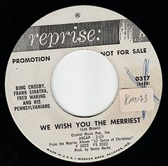 """45vinylrecord We Wish You The Merriest/Go Tell it On The Mountain (7"""" DJ/45 rpm) REPRISE http://www.amazon.com/dp/B017O1SQF8/ref=cm_sw_r_pi_dp_2Plqwb1FGY812"""