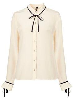 Topshop ribbon tie blouse