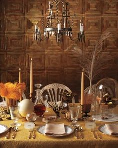 You probably can't spend lots of time with each guest. But you can promote an intimate at-home dinner-party atmosphere by surrounding invitees with a few of your favorite things. Create a unified table with the same flatware and china at each place, then fill the center with an array of beloved objects -- from registry gifts to a stash of personal curios.