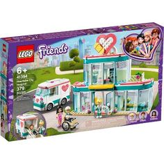 LEGO 41394 Friends Heartlake City Hospital Playset with Emma and Two Other Mini Dolls for Girls and Boys Features three floors open access building Lego Hospital, City Hospital, Shop Lego, Lego Store, Building Sets For Kids, Building Toys, Lego Girls, Toys For Girls, Ambulance Lego