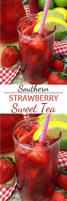 Southern Strawberry Sweet Tea #summerdrink #nonalcohol