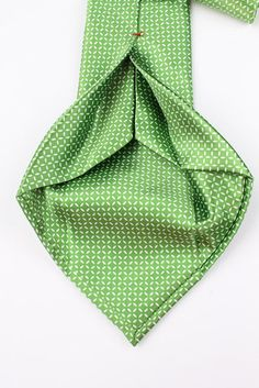 DANIEL CREMIEUX Green SEVEN FOLD Abstract Pattern mens Silk Tie #DanielCremieux #Tie