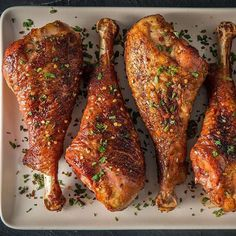 Smoked Turkey Legs with Brown Butter and Bourbon Glaze Recipe Smoked Turkey Legs with Brown Butter and Bourbon Glaze by Feedmedearly Recipe Turkey Leg Recipes, Rib Recipes, Pellet Grill Recipes, Grilling Recipes, Baked Turkey Wings, Smoked Turkey Legs, Royal Recipe, Nectarine Recipes, Chicken