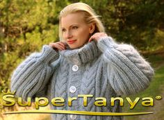 Made to order hand knit mohair cardigan in light gray, fuzzy cable knit jacket by SuperTanya