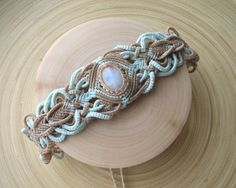 TO ORDER moonstone macrame choker boho necklace delicate