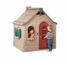 Ein gemütliches Spielhäuschen für die Kinder. Die Türe hat eine elektronische…