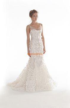 Hala Bez rukávů S křišťálovou aplikací Levné svatební šaty