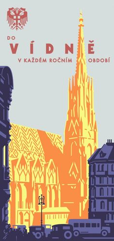Stephansdom travel poster