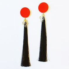 #silk #tassels #earrings #asian #style #suzywandeluxe #china