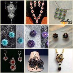 Bijoux components - Svět korálků Korálková výzva Crochet Necklace, Swarovski, Drop Earrings, Jewelry, Jewlery, Jewerly, Schmuck, Drop Earring, Jewels