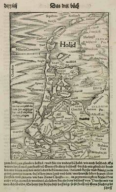 Very Old Map Holland
