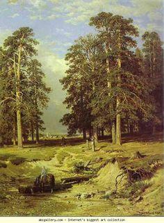 Near Yelabuga. 1886. Oil on canvas. The Museum of Russian Art, Kiev, Ukraine