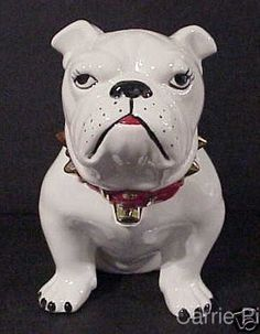 Large English Bulldog Cookie Jar by CarrieHomeMadeGifts on Etsy