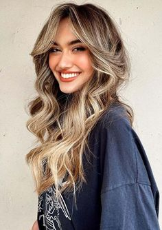 Best Long Hairstyles with Curtain Bangs to Follow in Current Year   Stylesmod Haircuts For Long Hair With Layers, Medium Length Hair With Layers, Bangs With Medium Hair, Curly Hair With Bangs, Long Layered Haircuts, Long Curly Hair, Long Hair Cuts, Hairstyles With Bangs, Medium Hair Styles