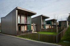Bayona Arrouset de Patrick Arotcharen. Hemos construido quince viviendas sociales para el Ministerio de Vivienda francés con avanzados sistemas de prefabricación.