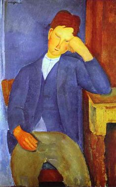 The Young Apprentice. 1918. oil on canvas. 100 x 65 cm. Solomon R. Guggenheim Museum, New York, NY, USA.