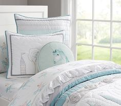 Starla Ice Castle Quilted Bedding   Pottery Barn Kids