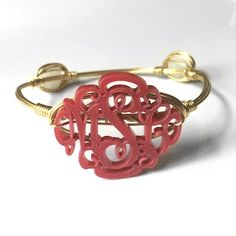 Acrylic and Wire Bangle! $29.95